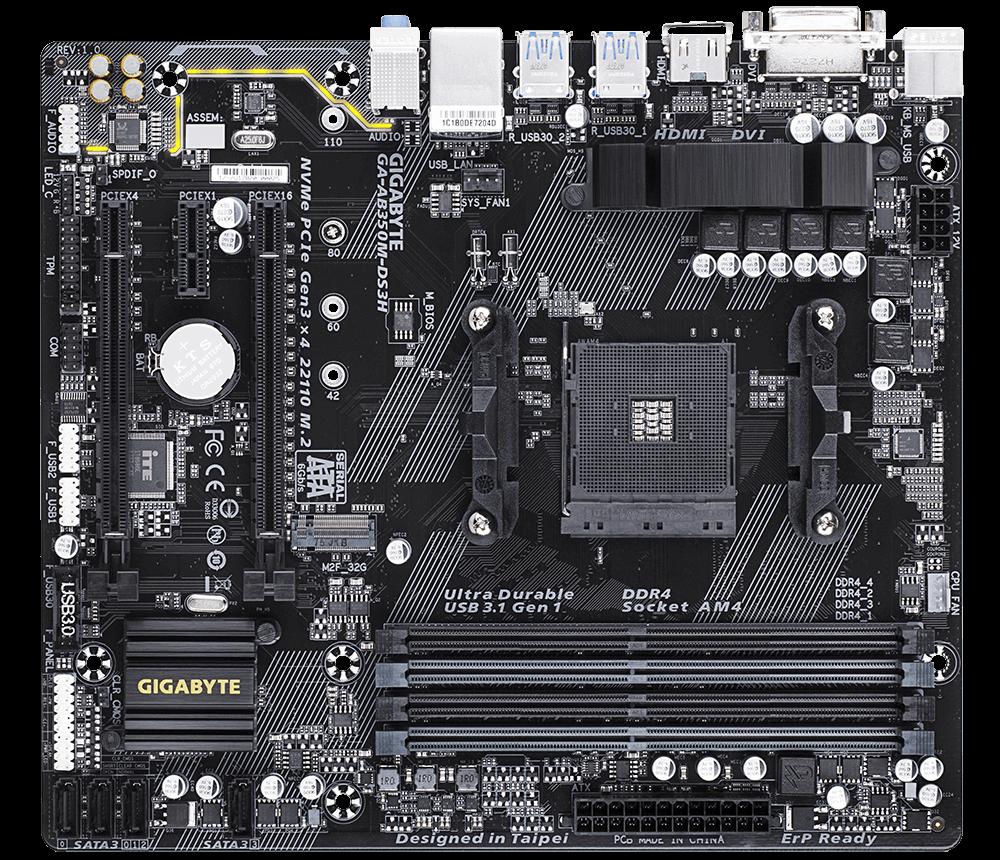 Placa de baza AB350M-DS3H Socket AM4