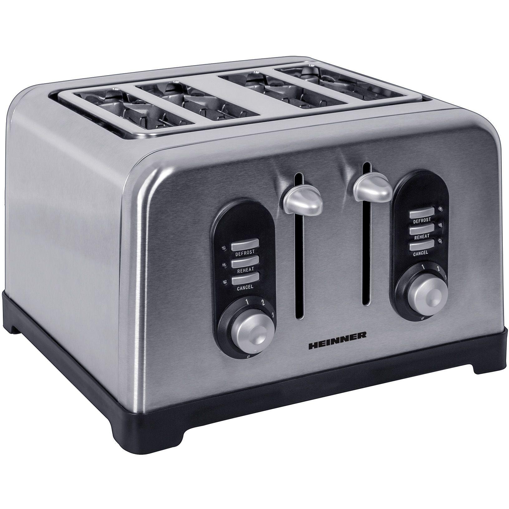 Prajitor de paine Heinner HTP-BK1400XMC 1400W Argintiu