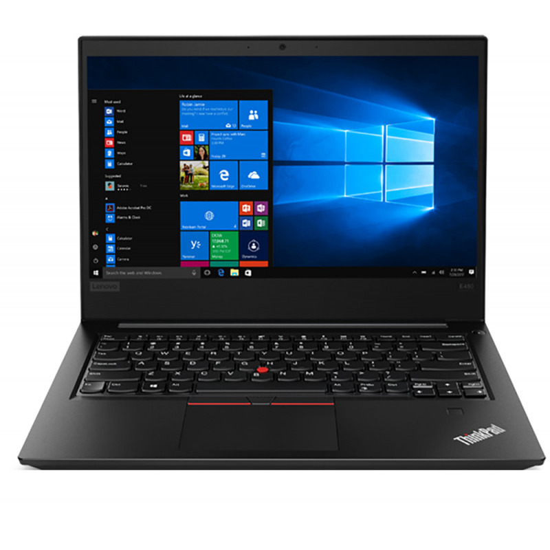 Notebook Lenovo ThinkPad E480 14 Full HD Intel Core i7-8550U RX 550-2GB RAM 8GB SSD 256GB Windows 10 Pro Negru