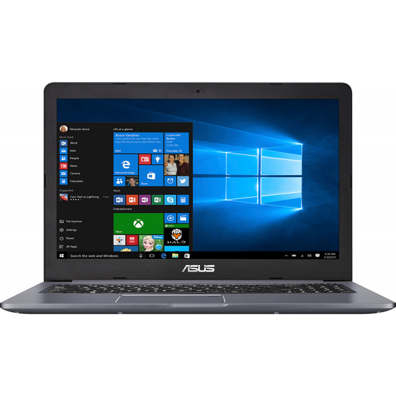Notebook Asus VivoBook Pro N580VD 15.6 4K Intel Core i7-7700HQ GTX 1050-4GB RAM 8GB HDD 1TB + SSD 128GB Endless Gri