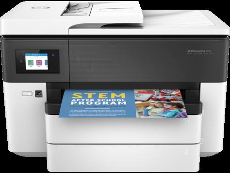 Multifunctional Inkjet Color HP OfficeJet Pro 7730