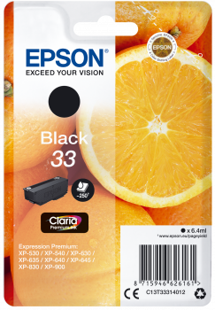 Cartus Inkjet Epson T3331 Black 33 250 pagini