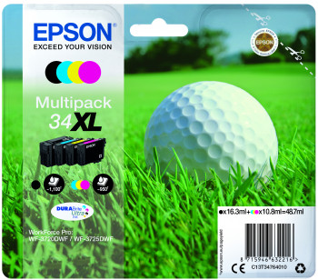 Cartus Inkjet Epson MultiPack 34XL DURABrite Ultra