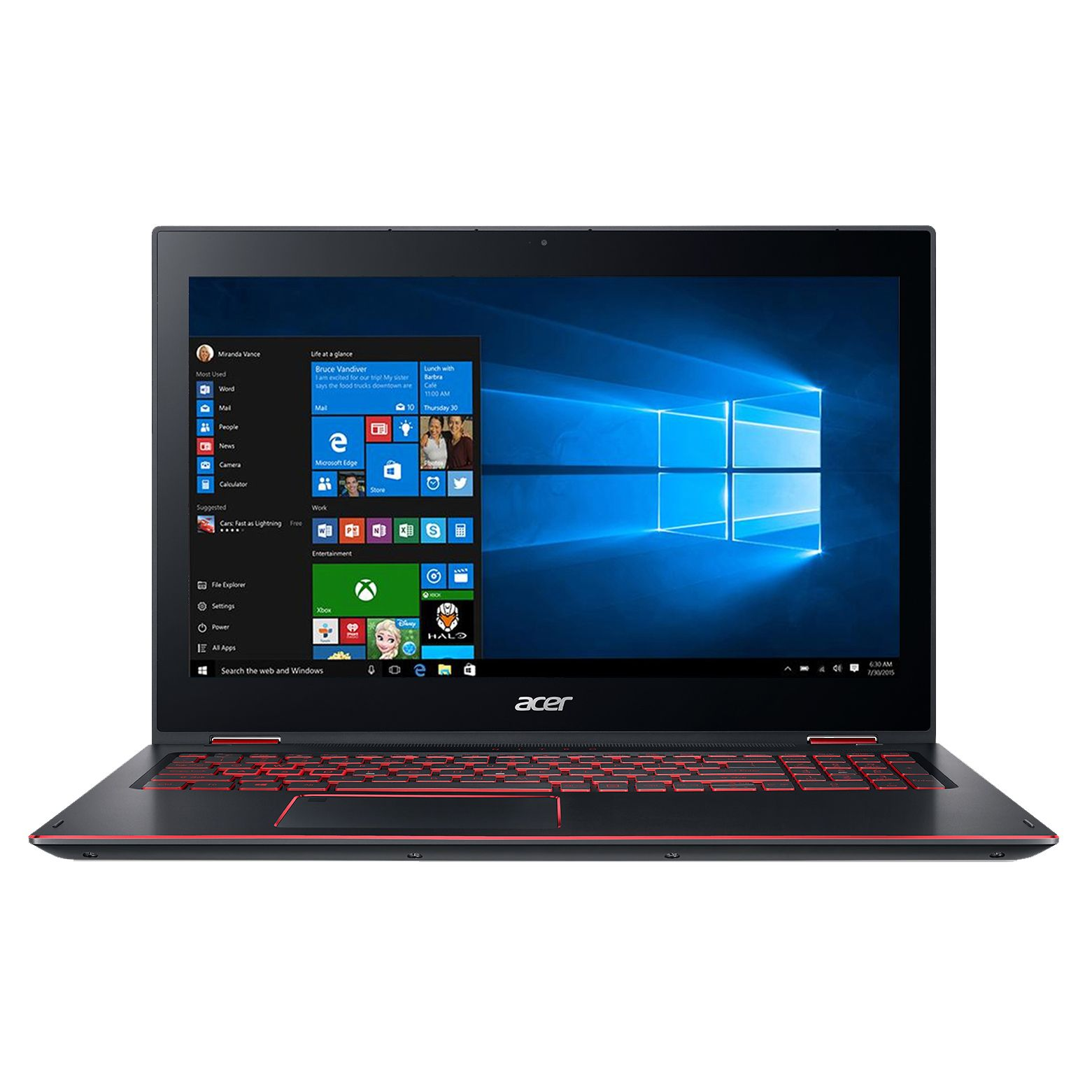 Notebook Acer Nitro Spin 5 NP515-51 15.6 Full HD Touch Intel Core i7-8550U GTX 1050-4GB RAM 8GB SSD 256GB Windows 10 Home Negru
