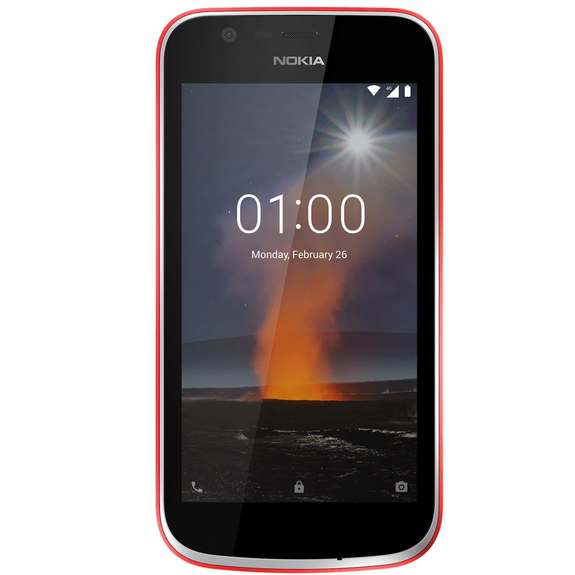Telefon Mobil Nokia 1 8GB Flash 1GB RAM Dual SIM 4G Warm Red