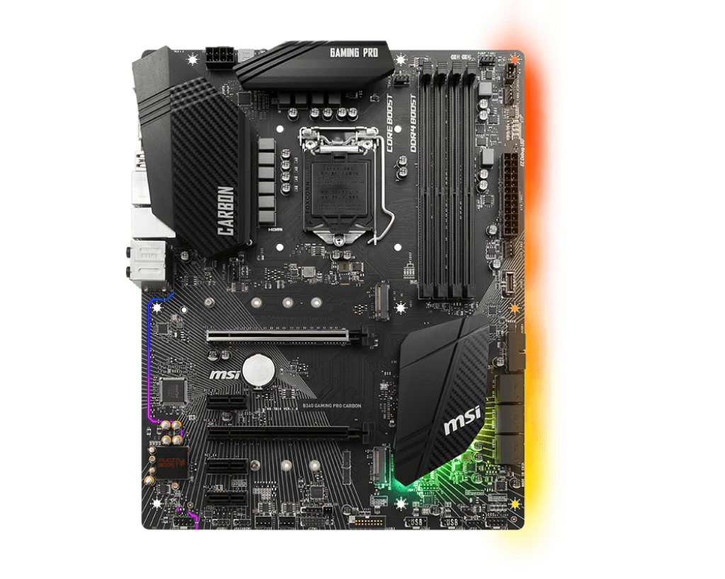 Placa de baza MSI B360 GAMING PRO CARBON Socket 1151