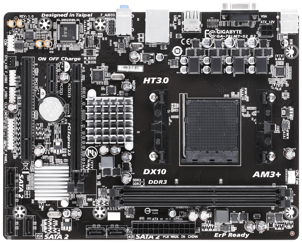 Placa de baza Gigabyte 78LMT-S2 R2 Socket AM3+