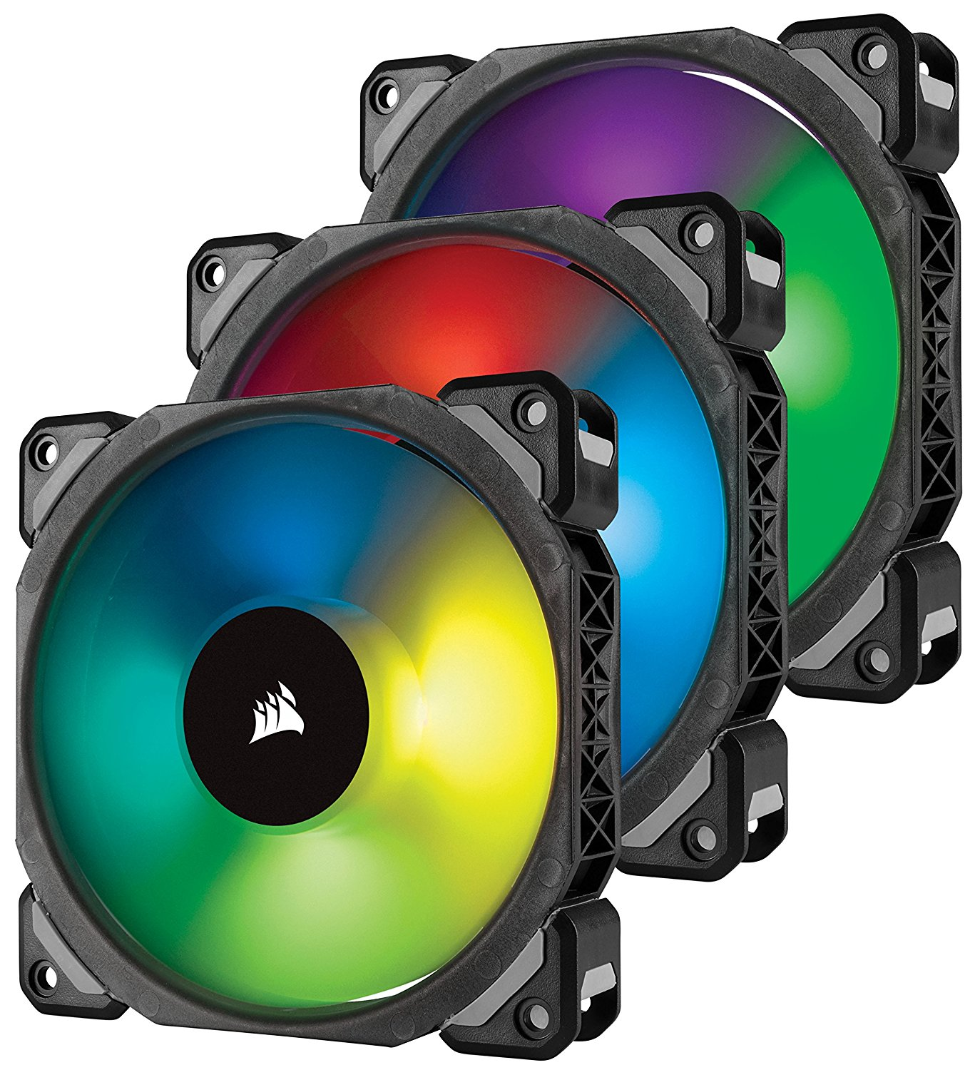 Ventilator Corsair ML120 Pro RGB LED 120mm PWM Three Pack with Lightning Node PRO