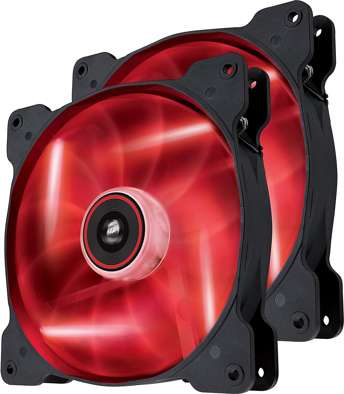 Ventilator Corsair Air Series SP140 High Static Pressure 140mm LED Red Twin Pack