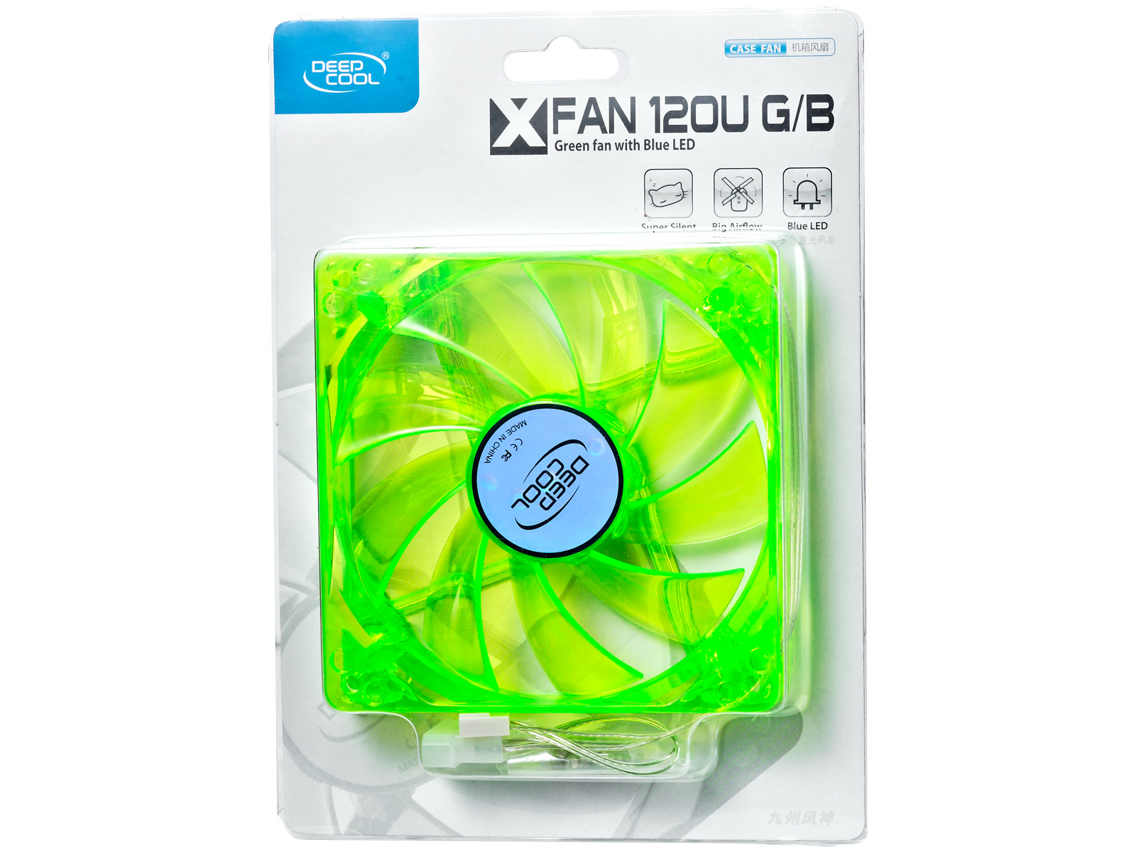 Ventilator Deepcool XFAN 120U G/B Green 120mm UV LED