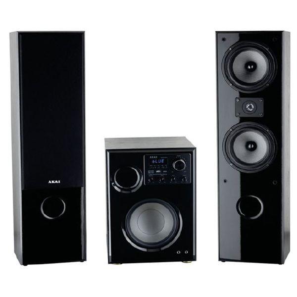 Sistem Audio AKAI SS034A-66TT 2.1 100W Bluetooth Karaoke Negru