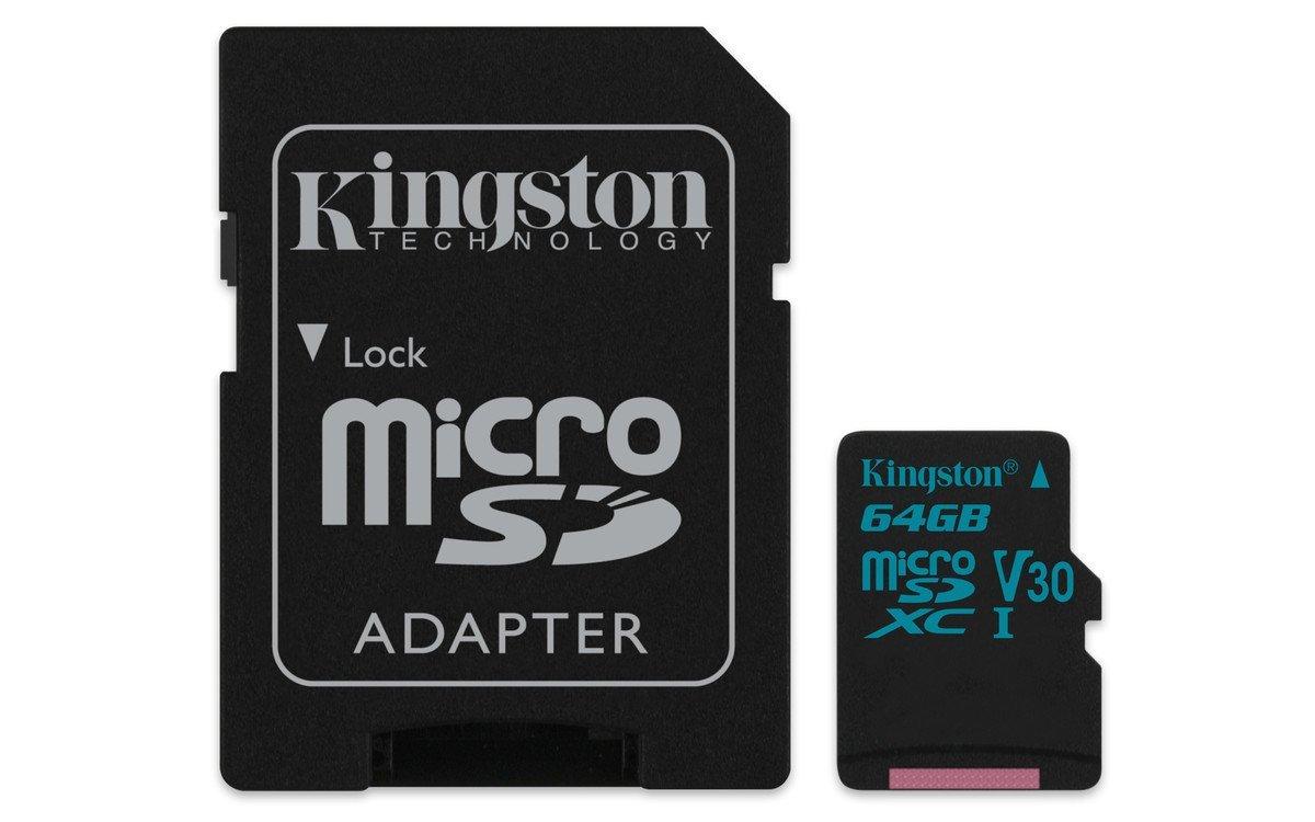 Card de memorie Kingston microSDXC Canvas Go! 64GB Clasa 10 UHS-I U3 Adaptor SD