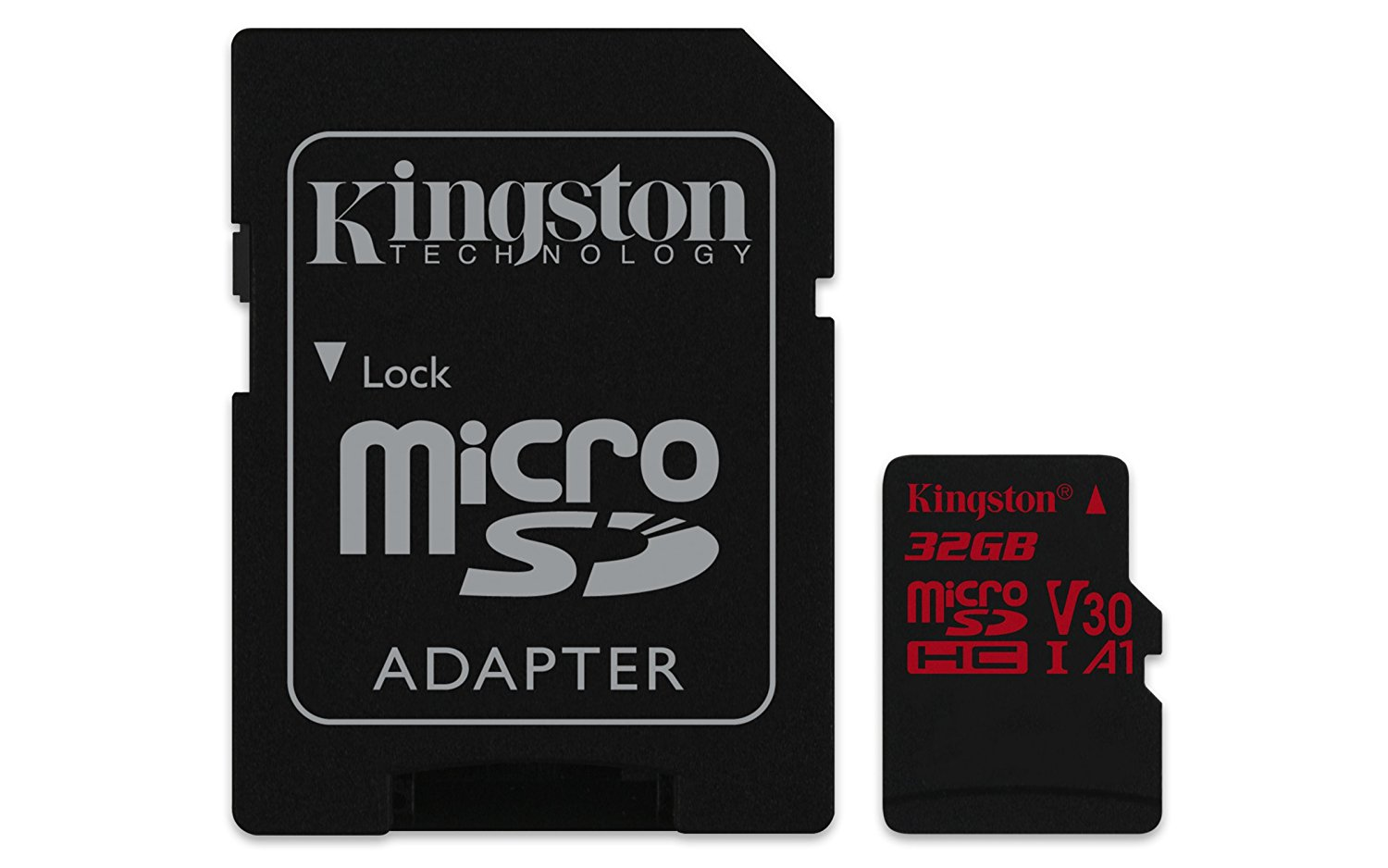 Card de memorie Kingston microSDHC Canvas React 32GB Clasa 10 UHS-I U3 Adaptor SD