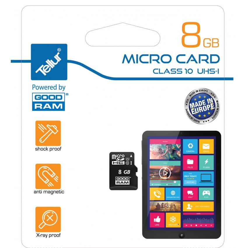 Card de memorie Tellur MicroSDHC 8GB Clasa 10 UHS I