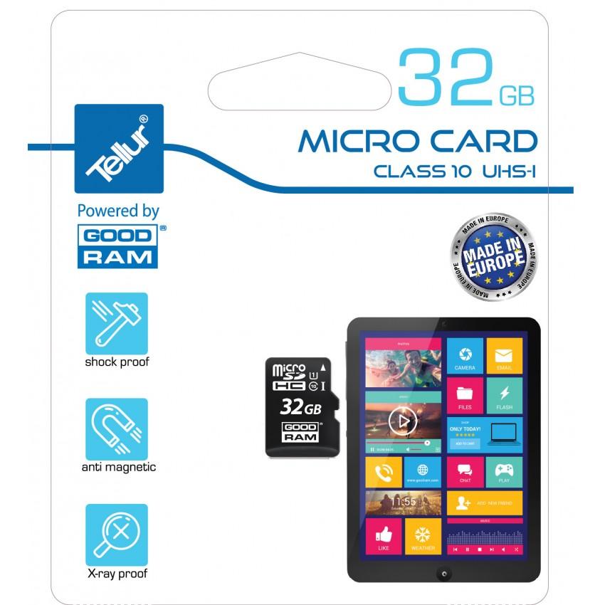 Card de memorie Tellur MicroSDHC 32GB Clasa 10 UHS I