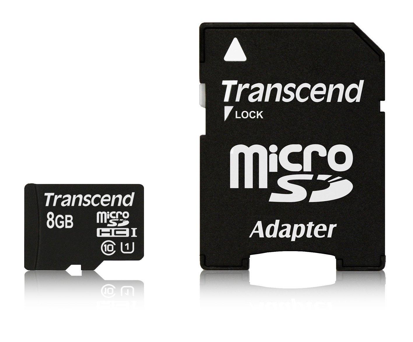 Card de memorie Transcend MicroSDHC 8GB Clasa 10 UHS-I Adaptor SD