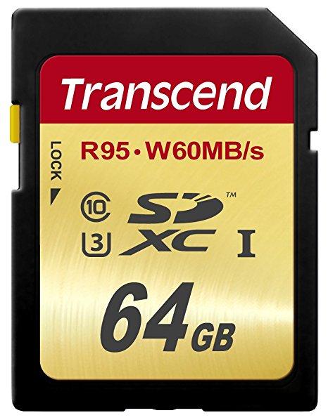 Card de memorie Transcend SDXC 64GB Clasa 10 UHS-I U3