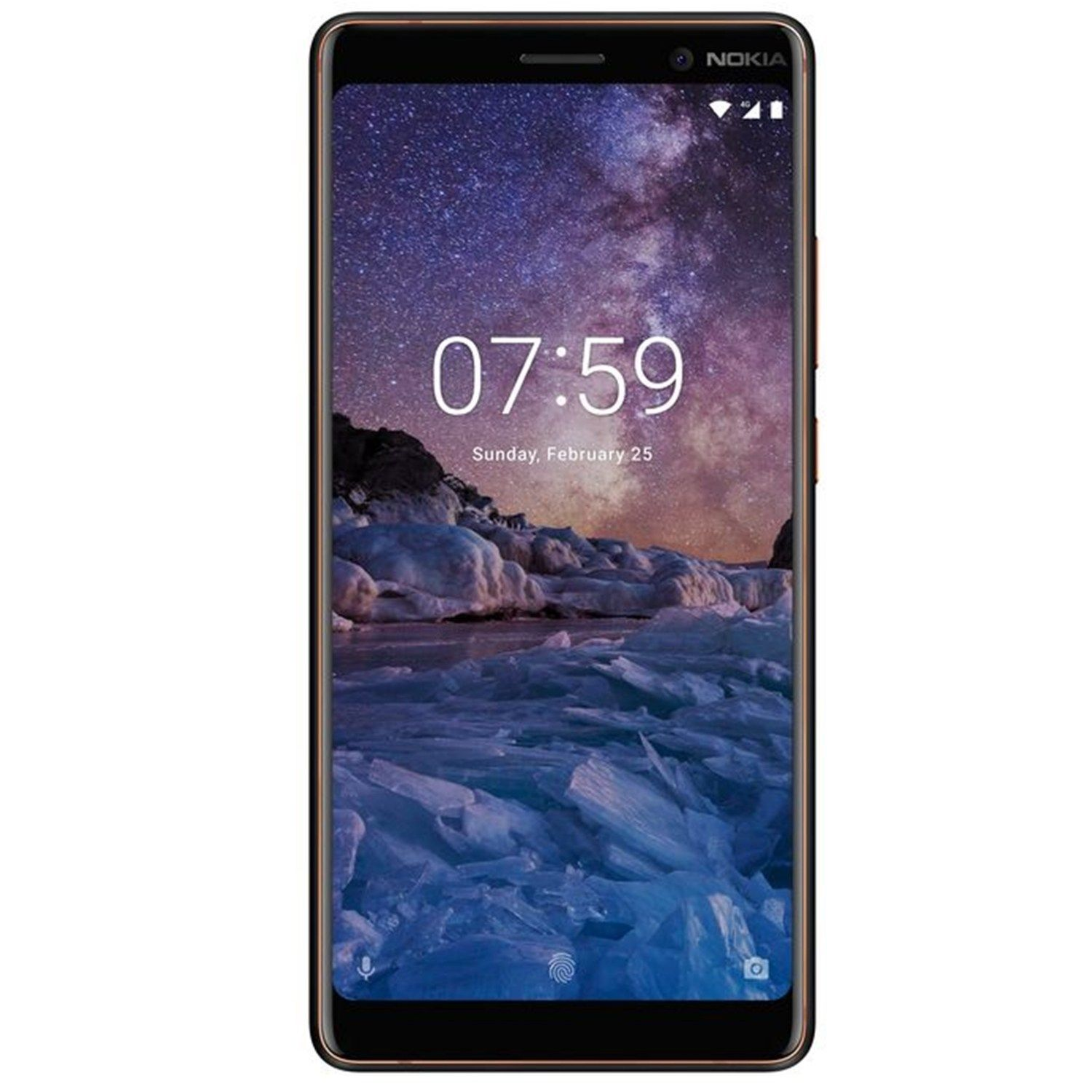 Telefon Mobil Nokia 7 Plus 64GB Flash 4GB RAM Dual SIM 4G Black Copper