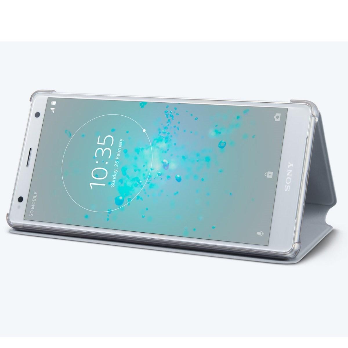 Husa de protectie Sony Flip Style Stand pentru Xperia XZ2 Gray