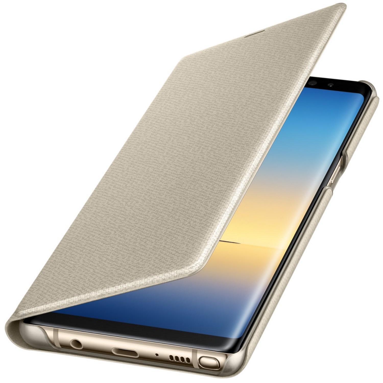 Husa Led View Cover pentru Samsung Galaxy Note 8 (N950) Gold
