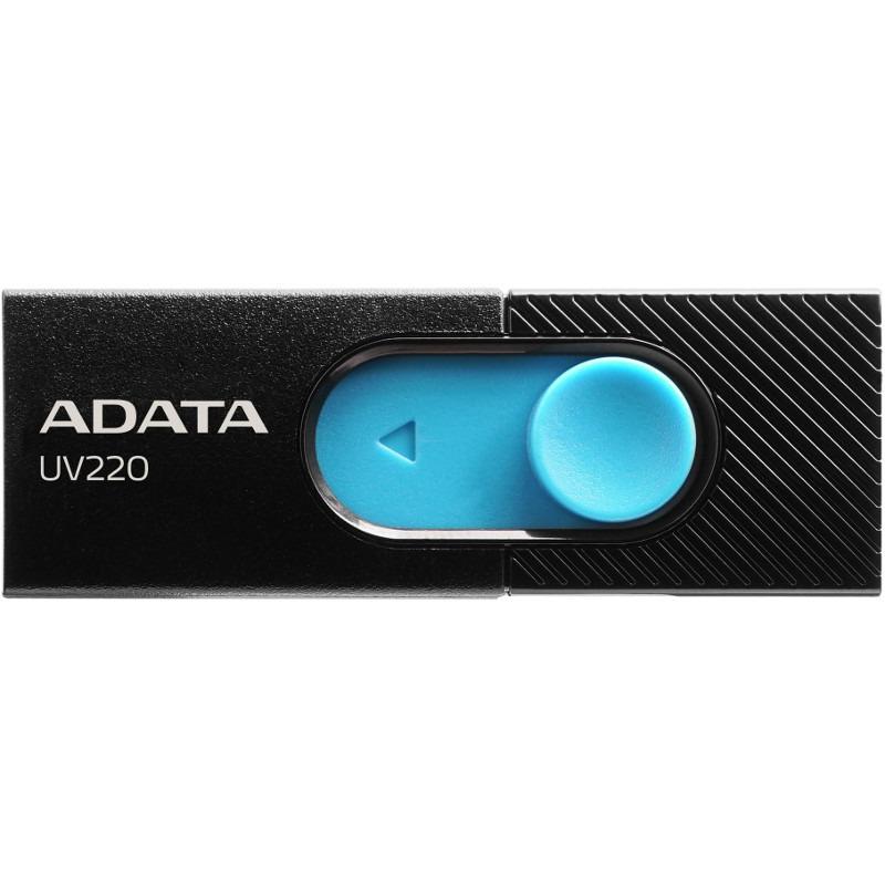 Flash Drive A-Data UV220 64GB USB 2.0 Black-Blue