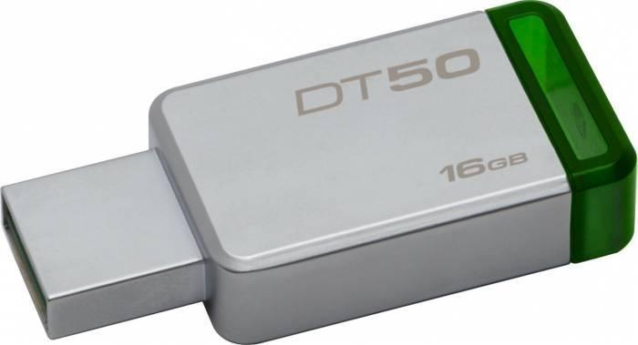 Flash Drive Kingston DataTraveler 50 16GB USB 3.1 Metal/Green