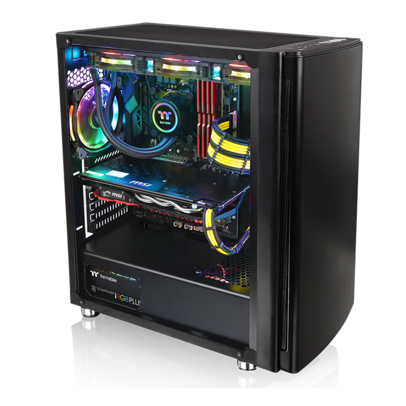 Carcasa Thermaltake Versa H27 Tempered Glass Edition Black