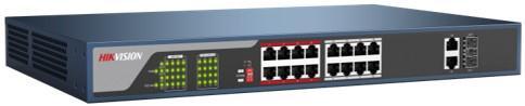 Switch Hikvision DS-3E0318P-E fara management cu PoE 16x100Mbps-RJ45