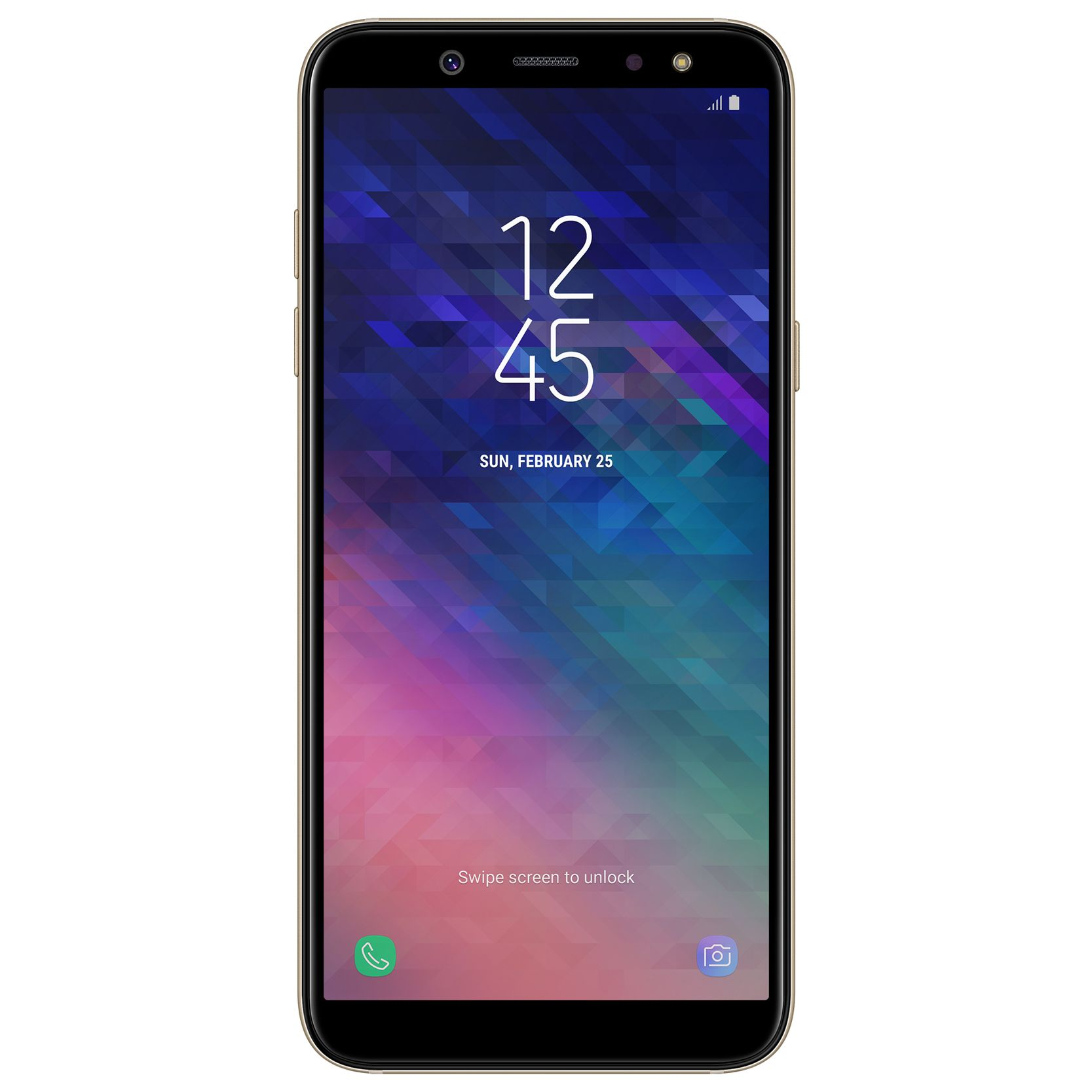 Telefon Mobil Samsung Galaxy A6 (2018) 32GB Flash 3GB RAM Dual SIM 4G Gold