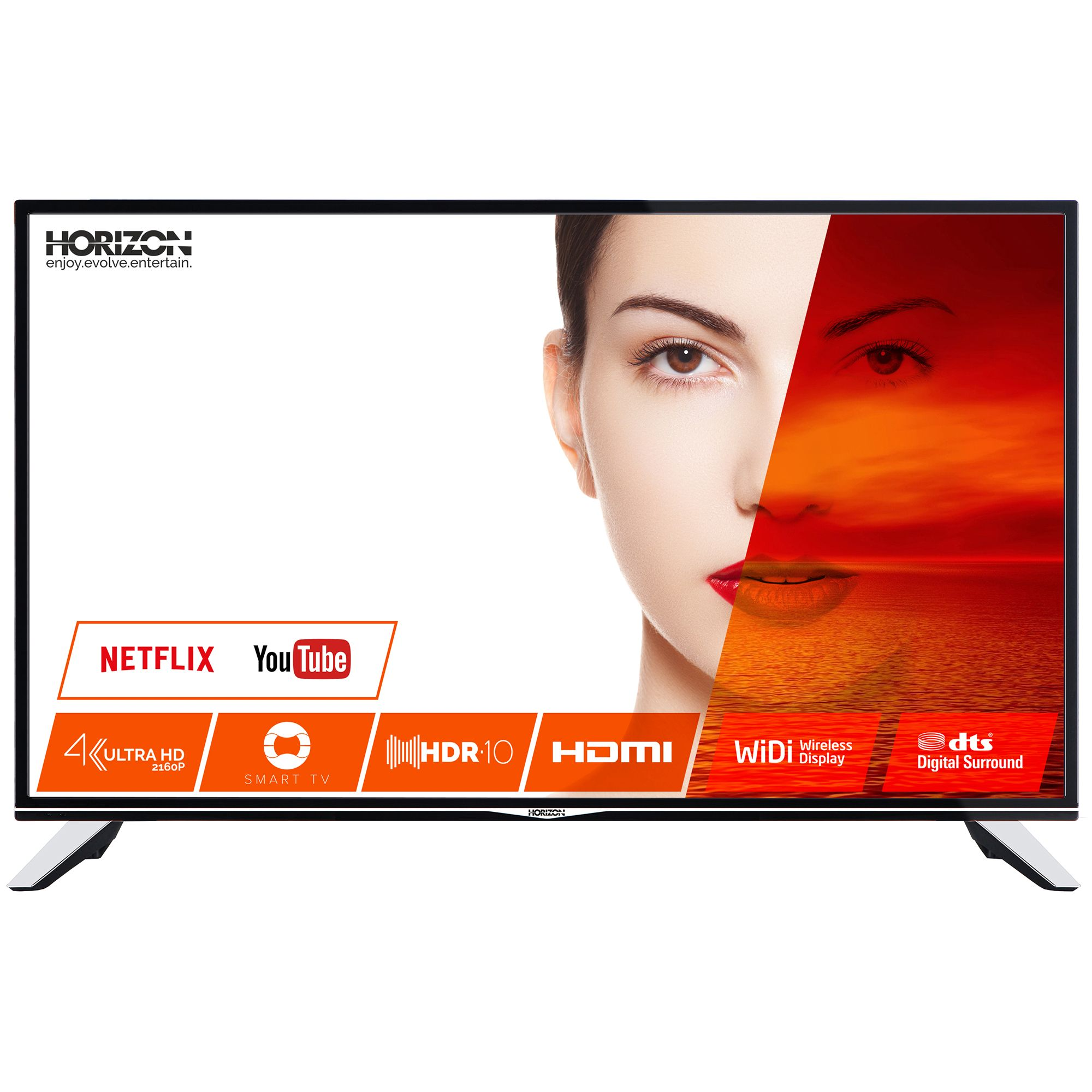 Televizor LED Horizon Smart TV 55HL7530U 140cm 4K Ultra HD Negru