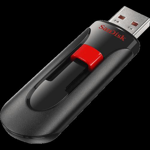 Flash Drive SanDisk Cruzer Glide 128GB USB 2.0 Black / Red