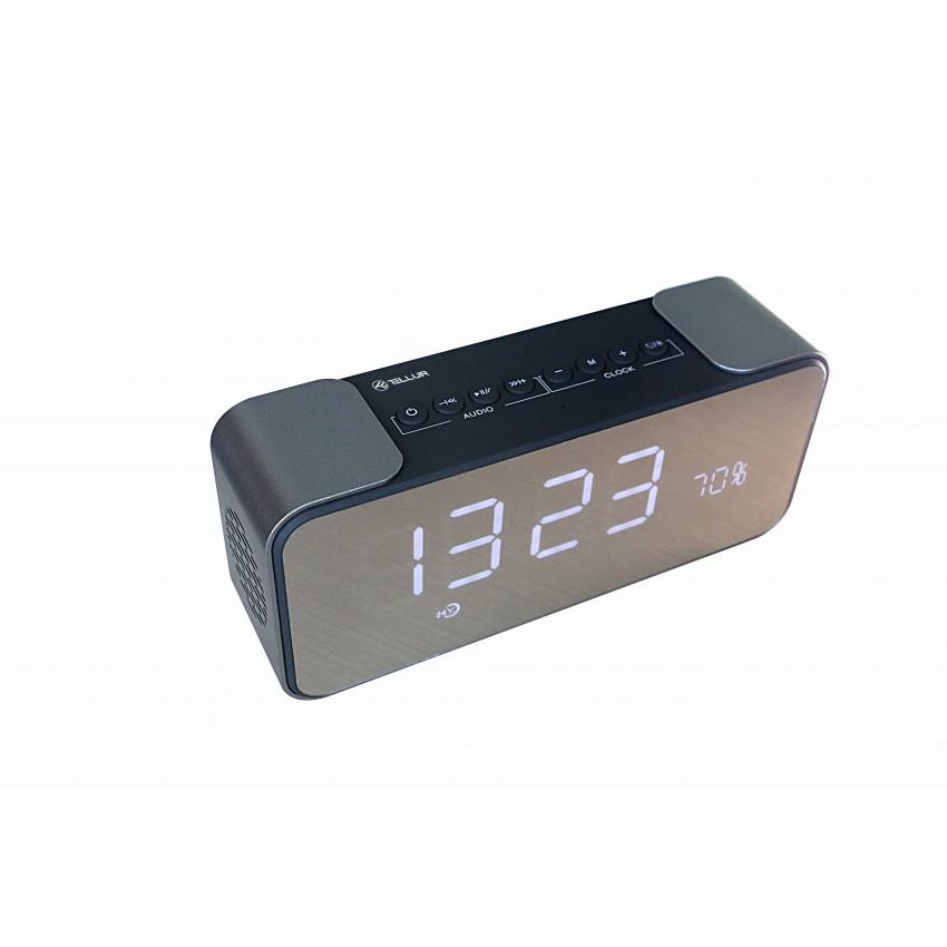 Boxa portabila Bluetooth Tellur Hydra cu ceas 10W Negru