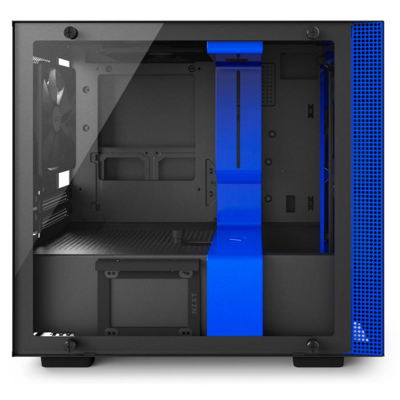 Carcasa PC NZXT H200i Matte Black/Blue