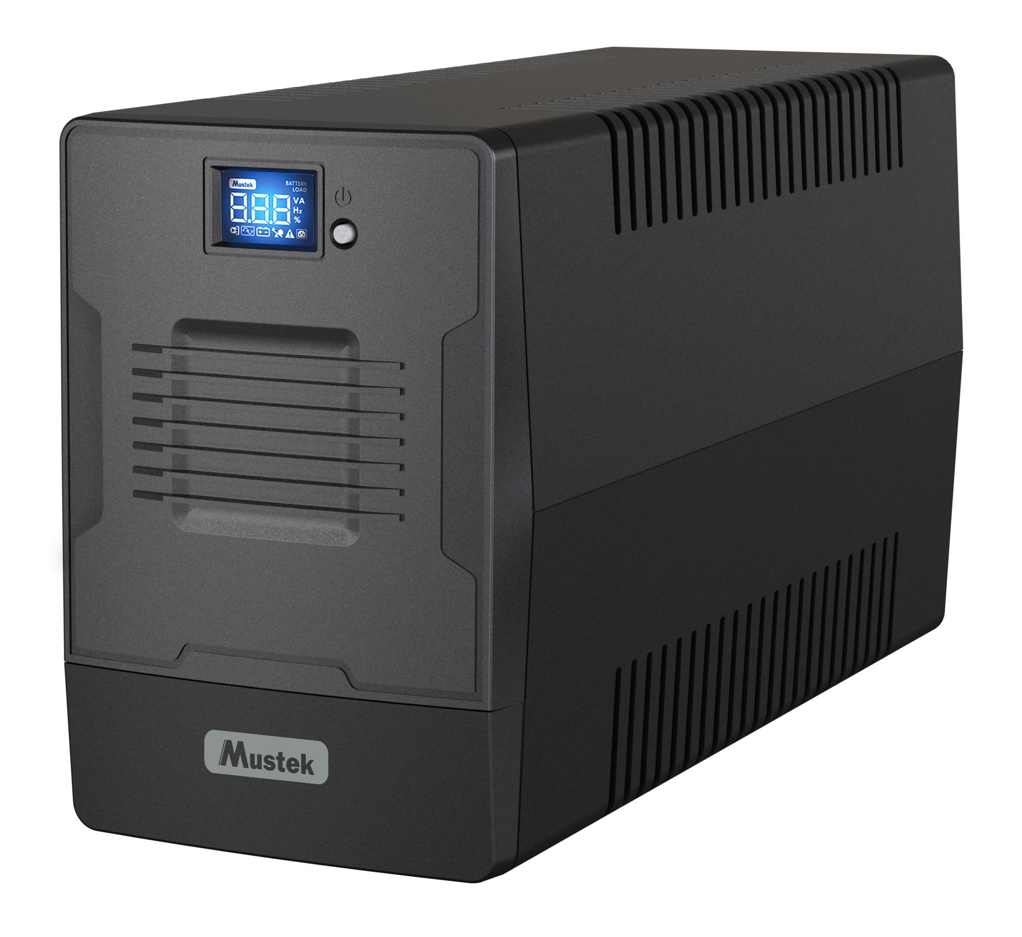 UPS Mustek PowerMust 1000 LCD Line Interactive 2xIEC 2xSchuko 1000VA/600W