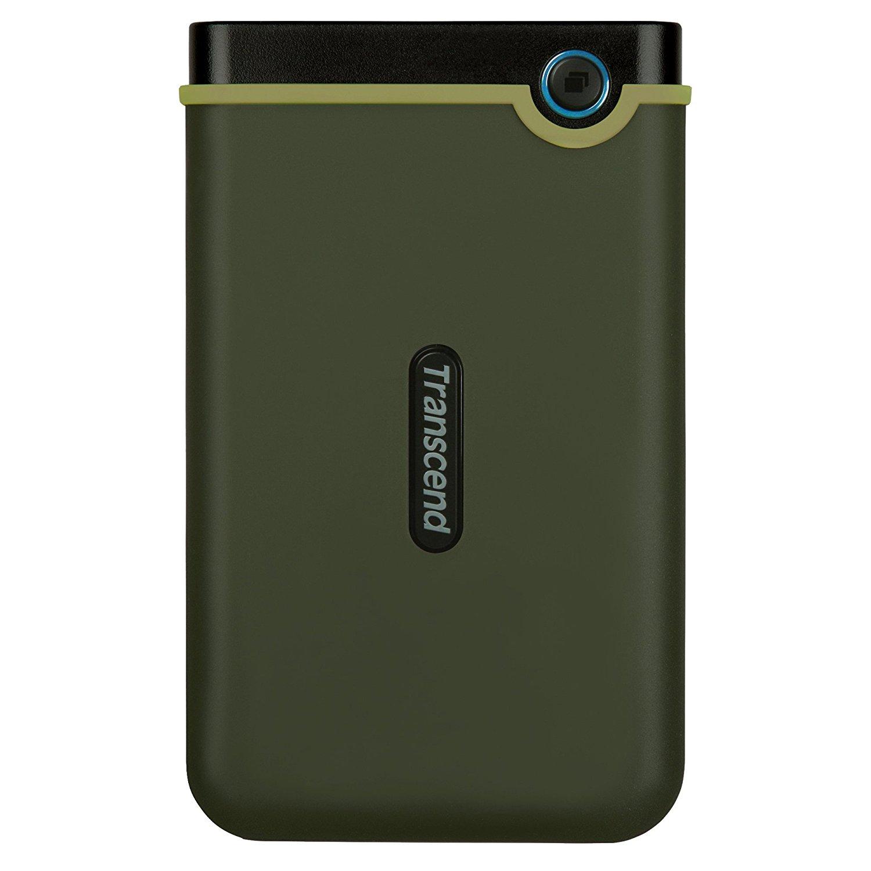 Hard Disk Extern Transcend StoreJet 25M3G 1TB USB 3.1 Military Green