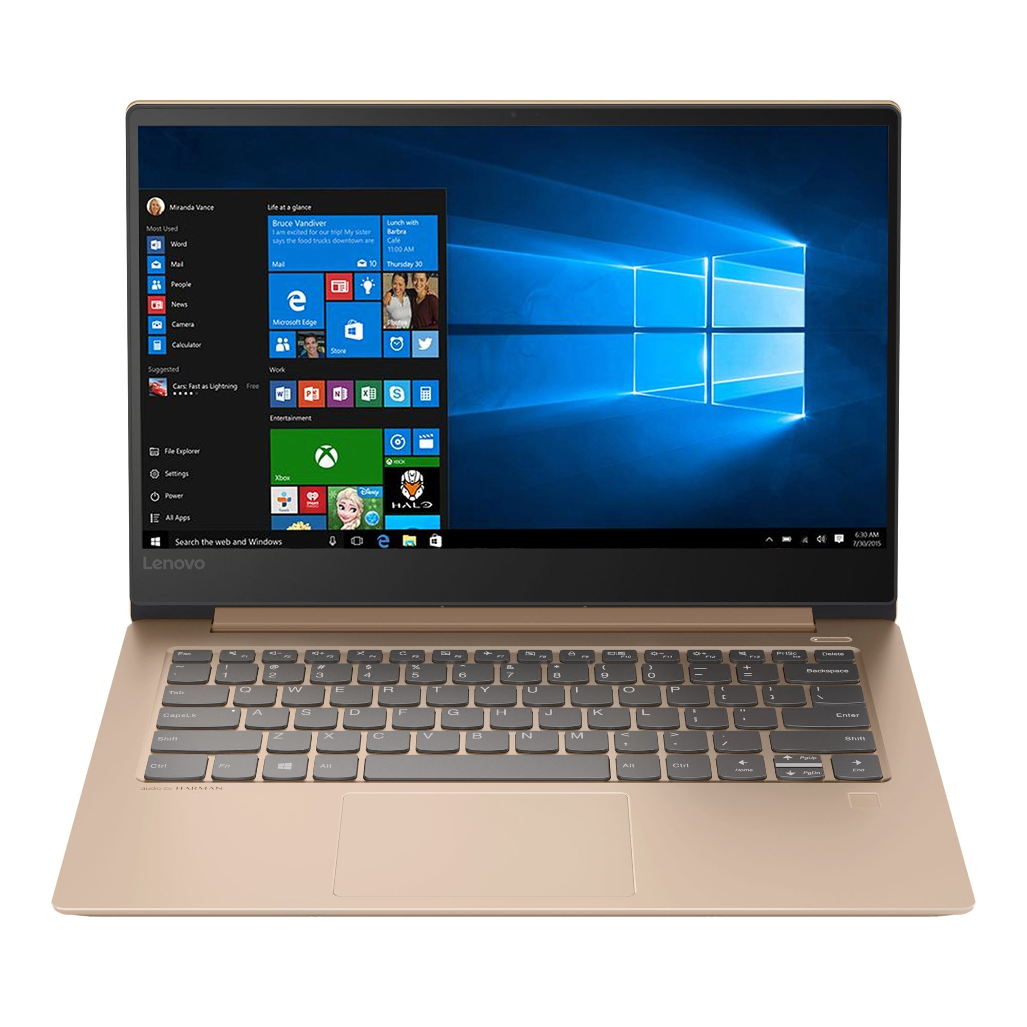 Ultrabook Lenovo IdeaPad 530S 14 WQHD Intel Core i7-8550U MX150-2GB RAM 16GB SSD 512GB Windows 10 Home Copper