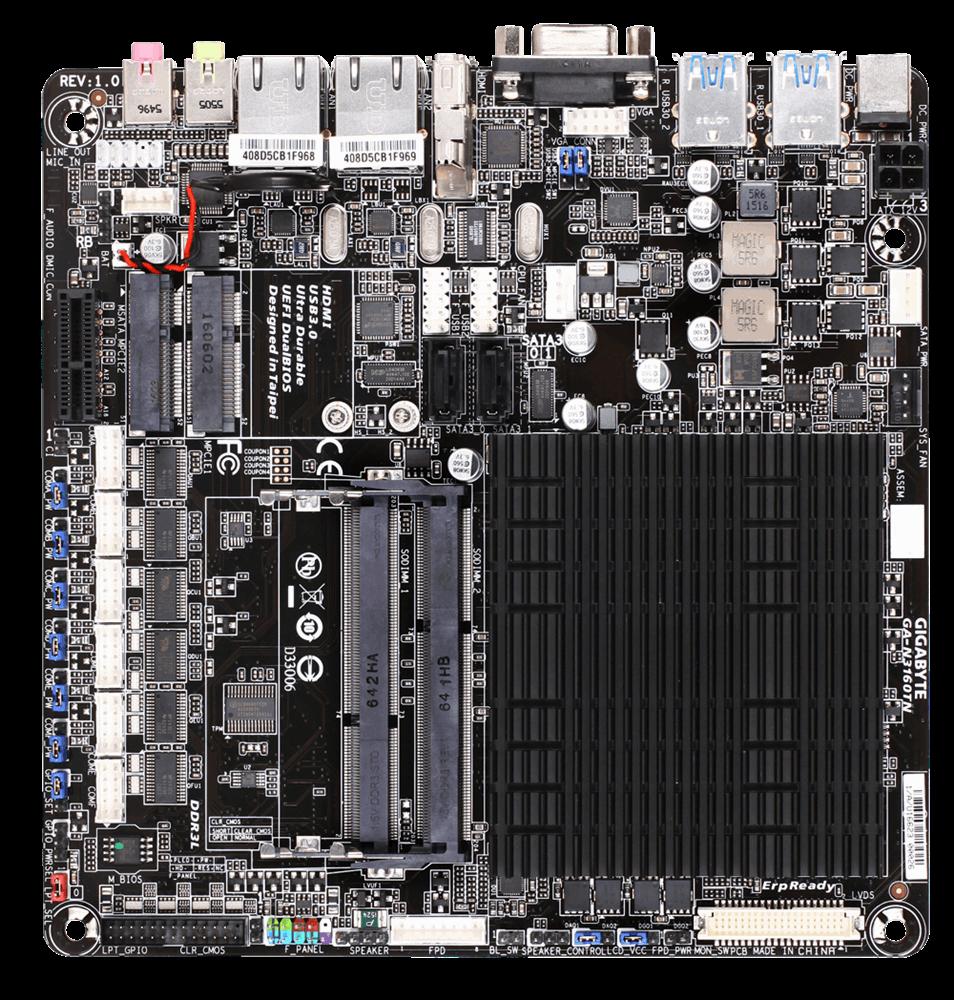 Placa de baza Gigabyte GA-N3160TN Procesor Integrat Intel Celeron N3160