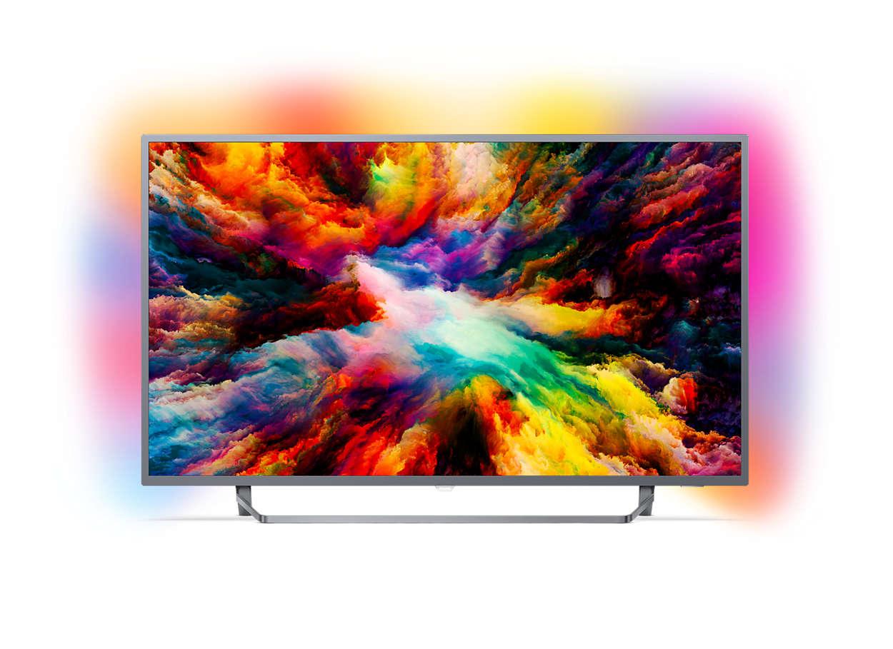 Televizor LED Philips Smart TV 43PUS7303/12 108cm 4K Ultra HD Android TV Negru