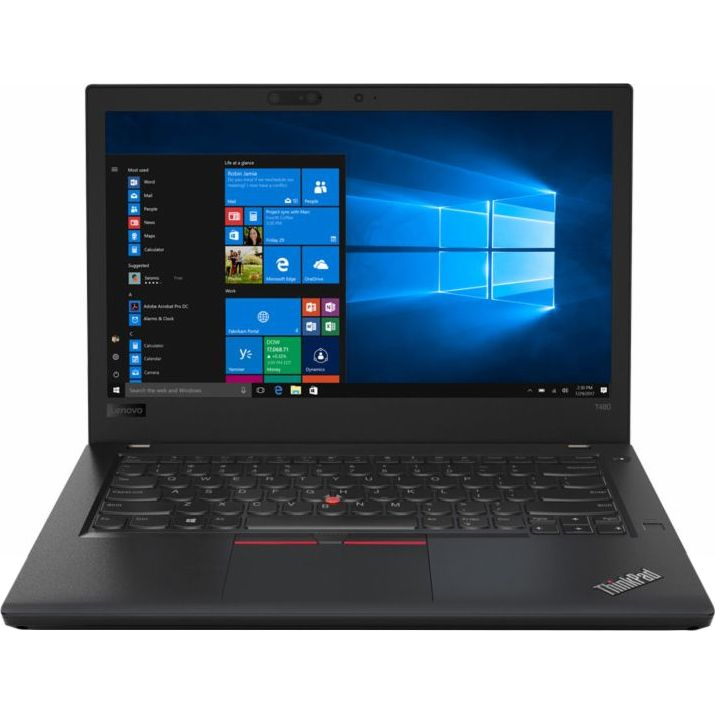 Notebook Lenovo ThinkPad T480 14 Full HD Intel Core i7-8550U RAM 16GB SSD 512GB Windows 10 Pro Negru