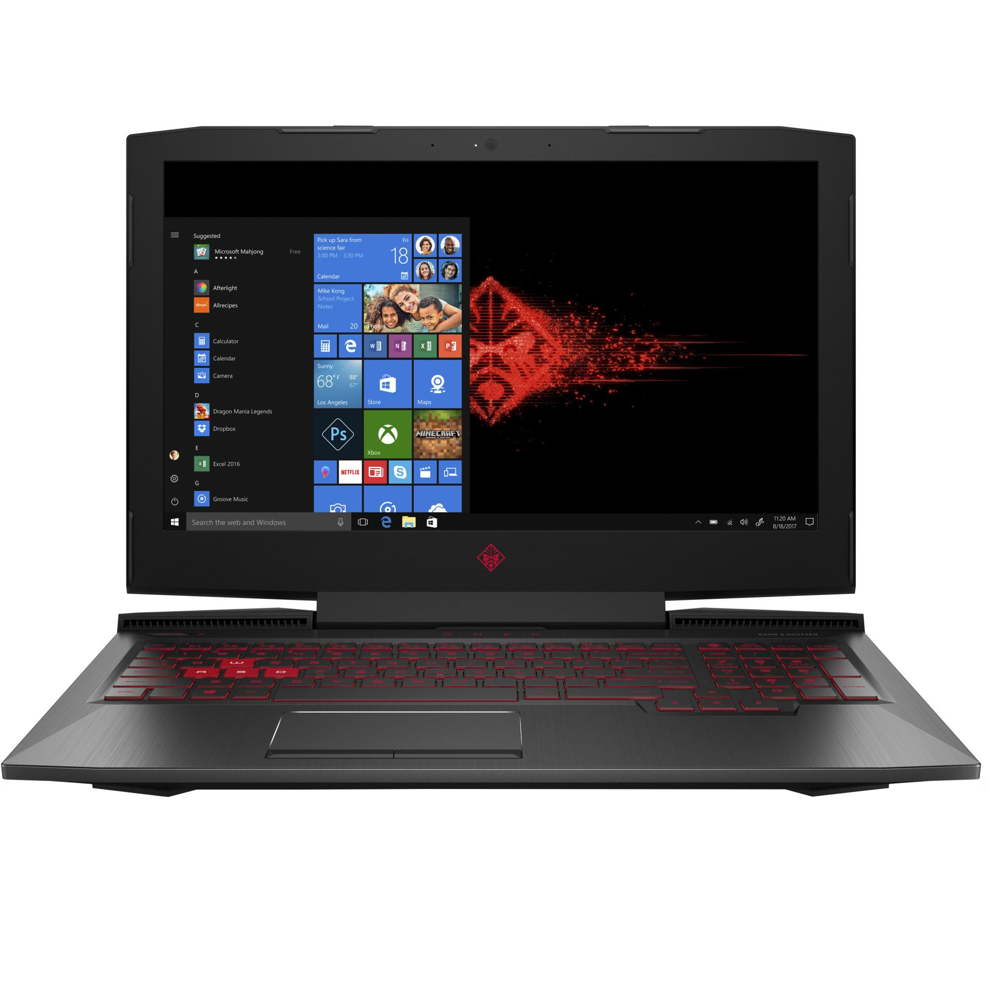 Notebook HP OMEN 15.6 Full HD Intel Core i5-8300H GTX 1050 Ti-4GB RAM 8GB HDD 1TB FreeDOS Negru
