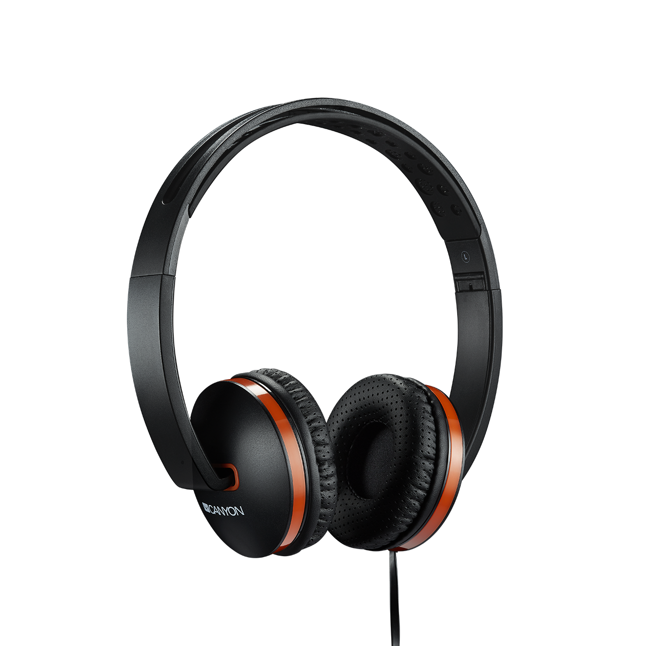 Casti Headset Canyon CNS-CHP4B Black/Orange