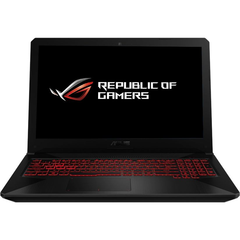 Notebook Asus FX504GE 15.6 Full HD Intel Core i7-8750H GTX 1050 Ti-4GB RAM 8GB HDD 1TB No OS Negru