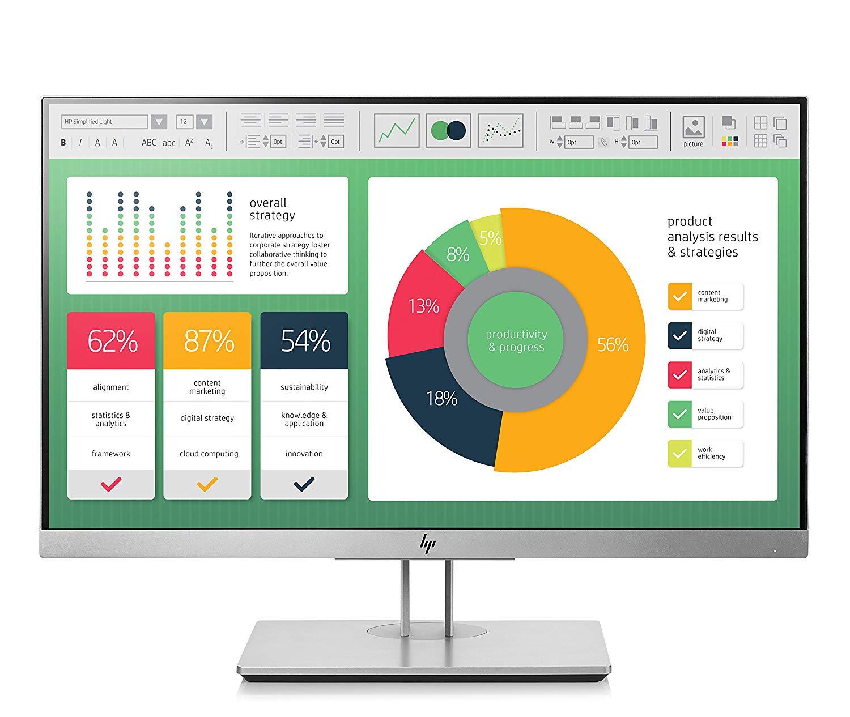 Monitor LED HP EliteDisplay E223 21.5 Full HD 5ms Negru