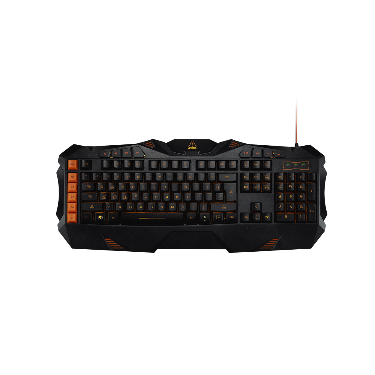 Tastatura Gaming Canyon Fobos CND-SKB3-US Black/Orange