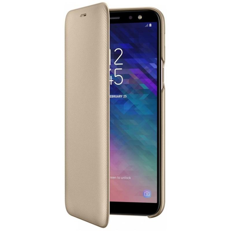 Husa Flip Samsung Wallet Cover EF-WA600 pentru Galaxy A6 2018 (A600) Gold