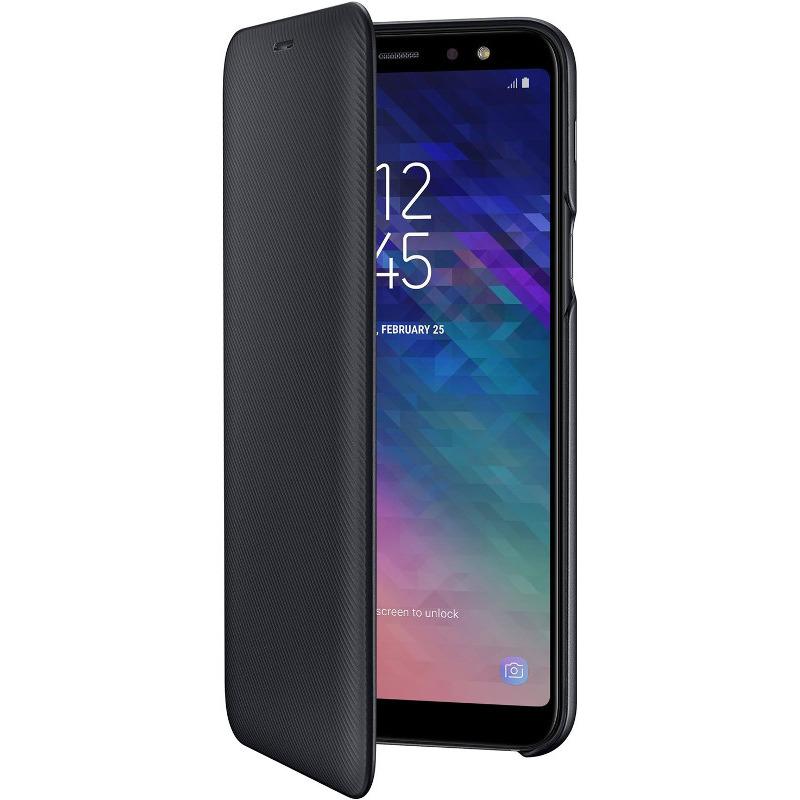 Husa Flip Samsung Cover EF-WA605 pentru Galaxy A6+ 2018 (A605) Black