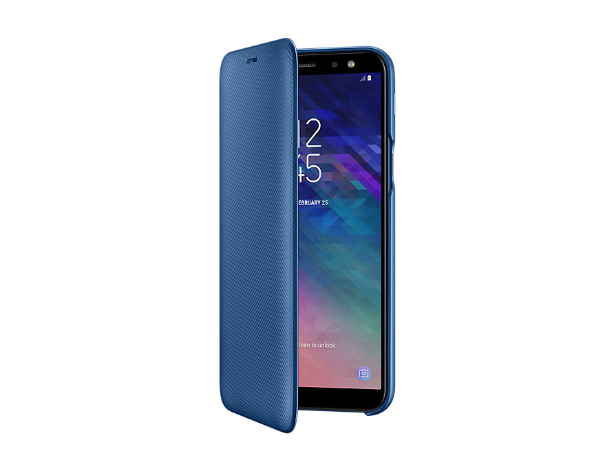 Husa Flip Samsung Wallet Cover Samsung EF-WA600 pentru Galaxy A6 2018 (A600) Blue