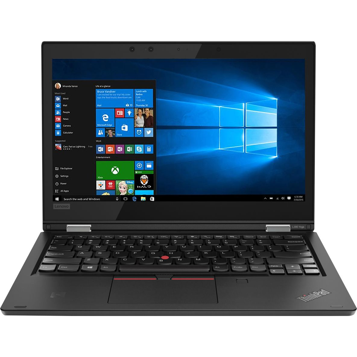 Ultrabook Lenovo ThinkPad L380 Yoga 13.3 Full HD Touch Intel Core i7-8550U RAM 8GB SSD 256GB Windows 10 Pro Negru
