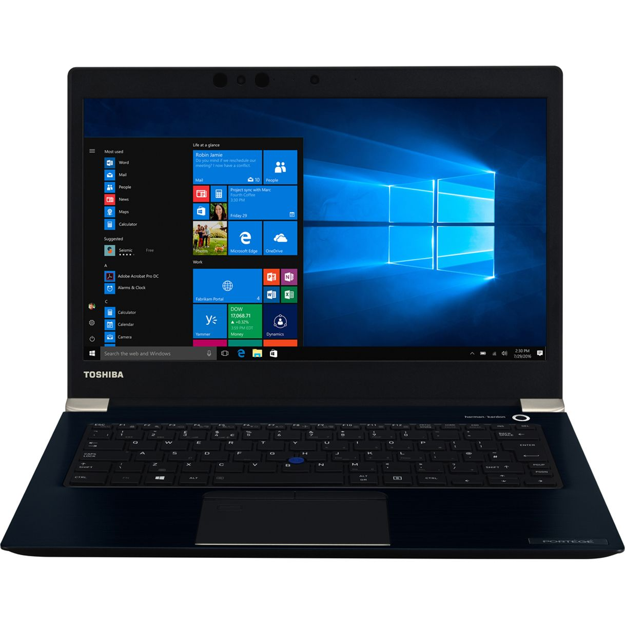 Ultrabook Toshiba Portege X30-E-11F 13.3 Full HD Touch Intel Core i7-8550U RAM 8GB SSD 512GB Windows 10 Pro