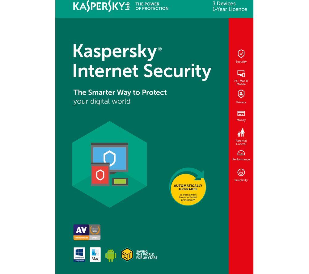 Kaspersky Internet Security Licenta Electronica 1 an 3 echipamente Renew